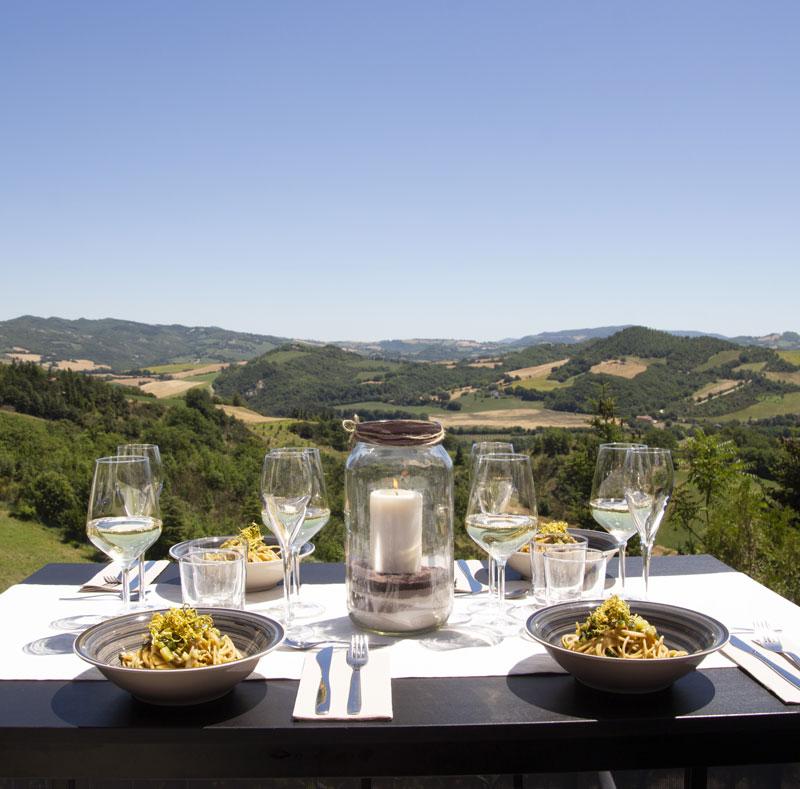 A tavola in terrazza