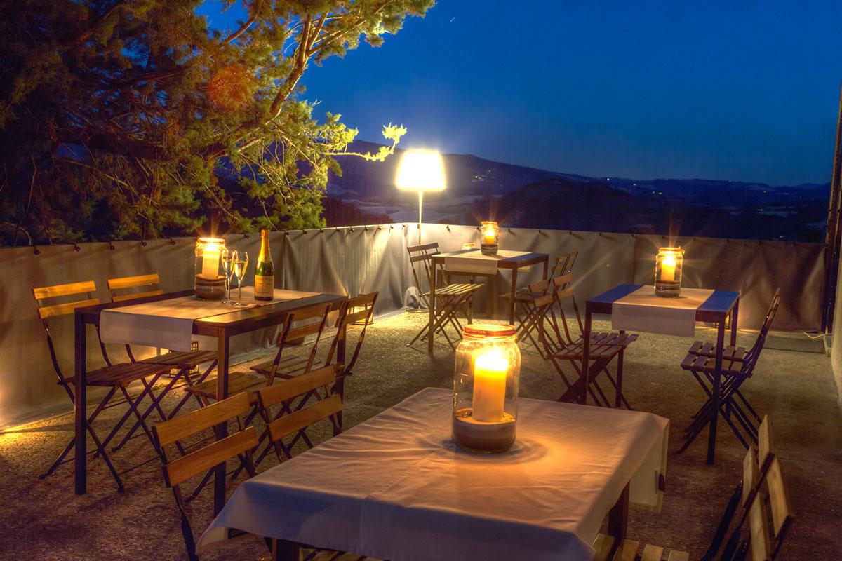 candele in terrazza